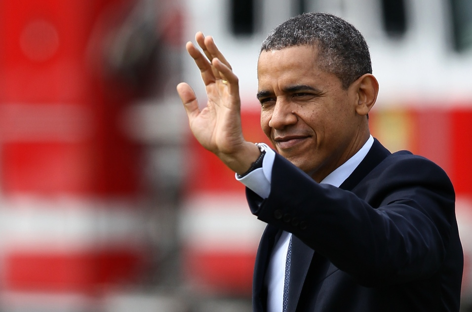 President Obama Departs The White House En Route To Petersburg, Virginia