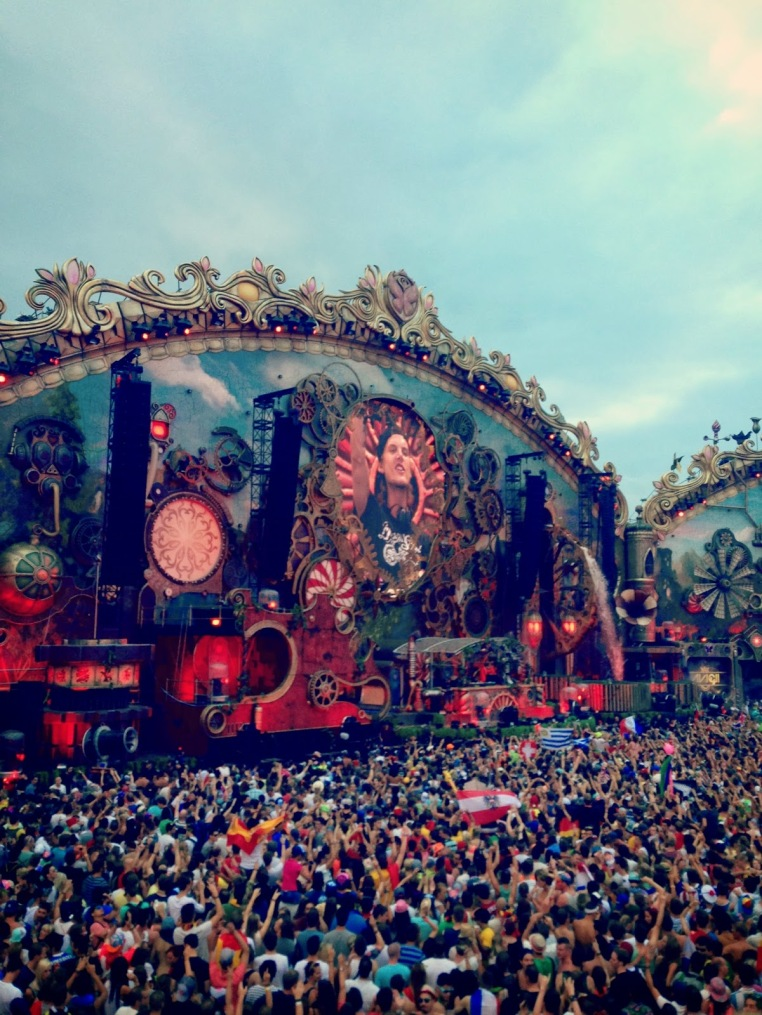 Tomorrowland Stage At Night He took over main stage on